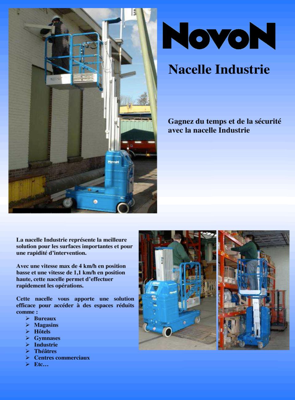 Nacelle Automotrice Industrie double mât