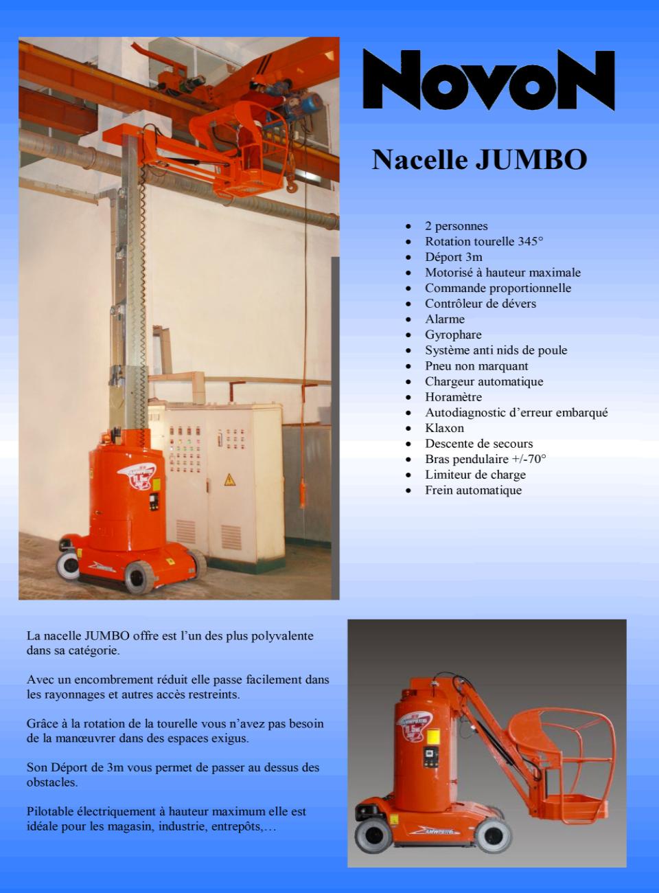 Nacelle Automotrice Jumbo