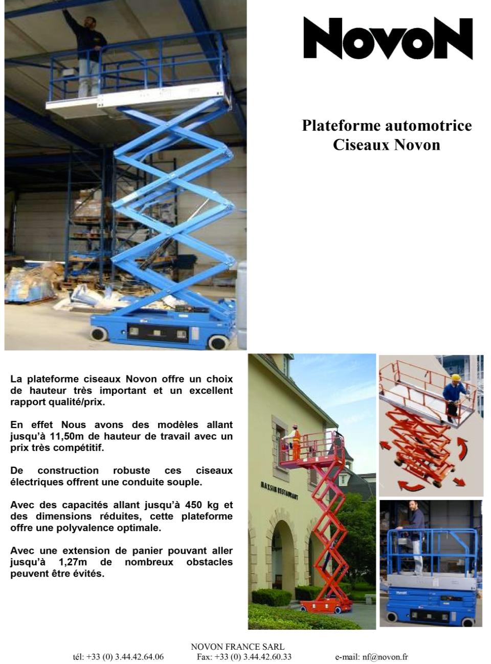 Plateforme Ciseaux Automoteur